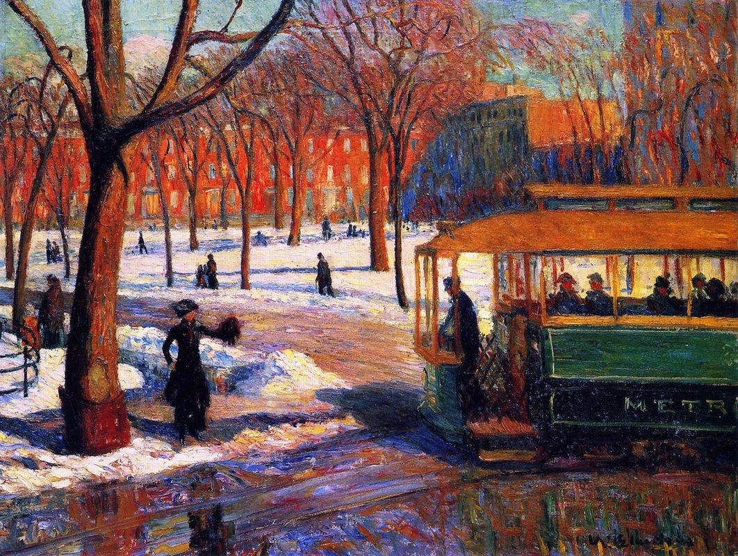The Green Car - William James Glackens