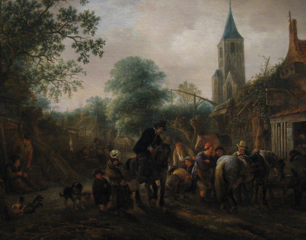The Halt at the Inn - Adriaen van Ostade