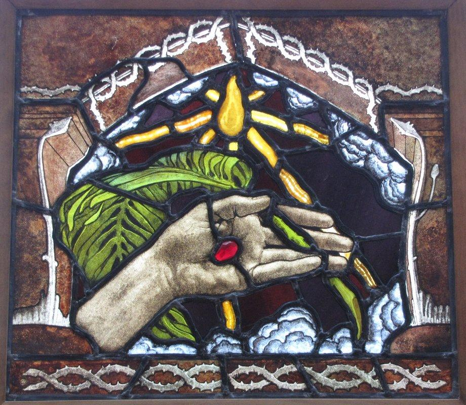 The Hand of Christ. The Palm of Peace  - Akseli Gallen-Kallela