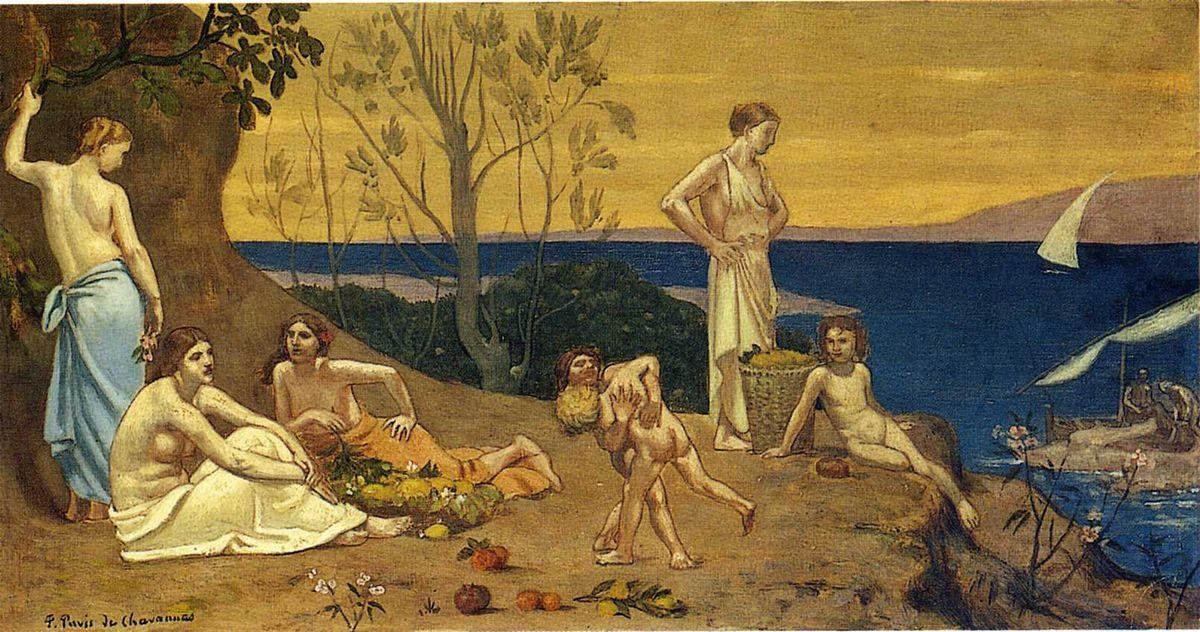 The Happy Land - Pierre Puvis de Chavannes