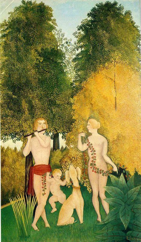 The Happy Quartet  - Henri Rousseau
