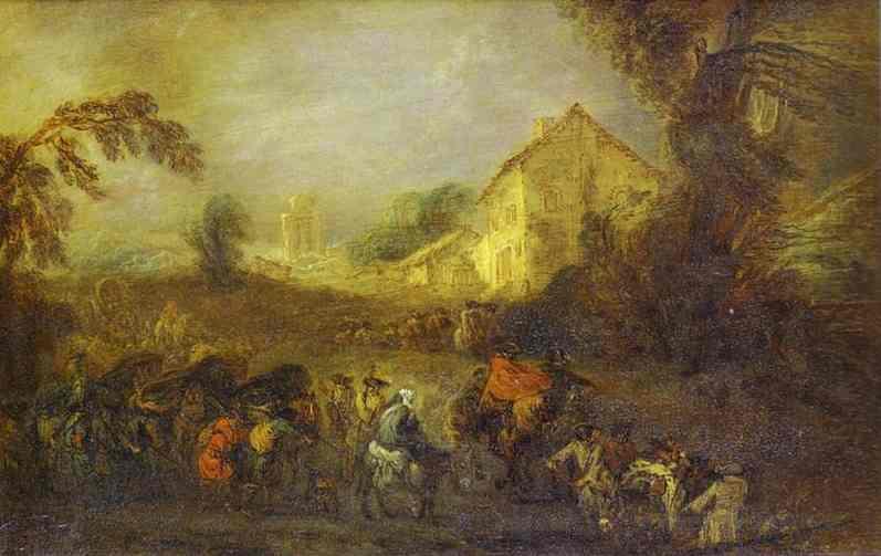 The Hardships of War - Antoine Watteau
