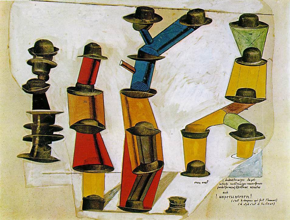 The hat makes the man - Max Ernst