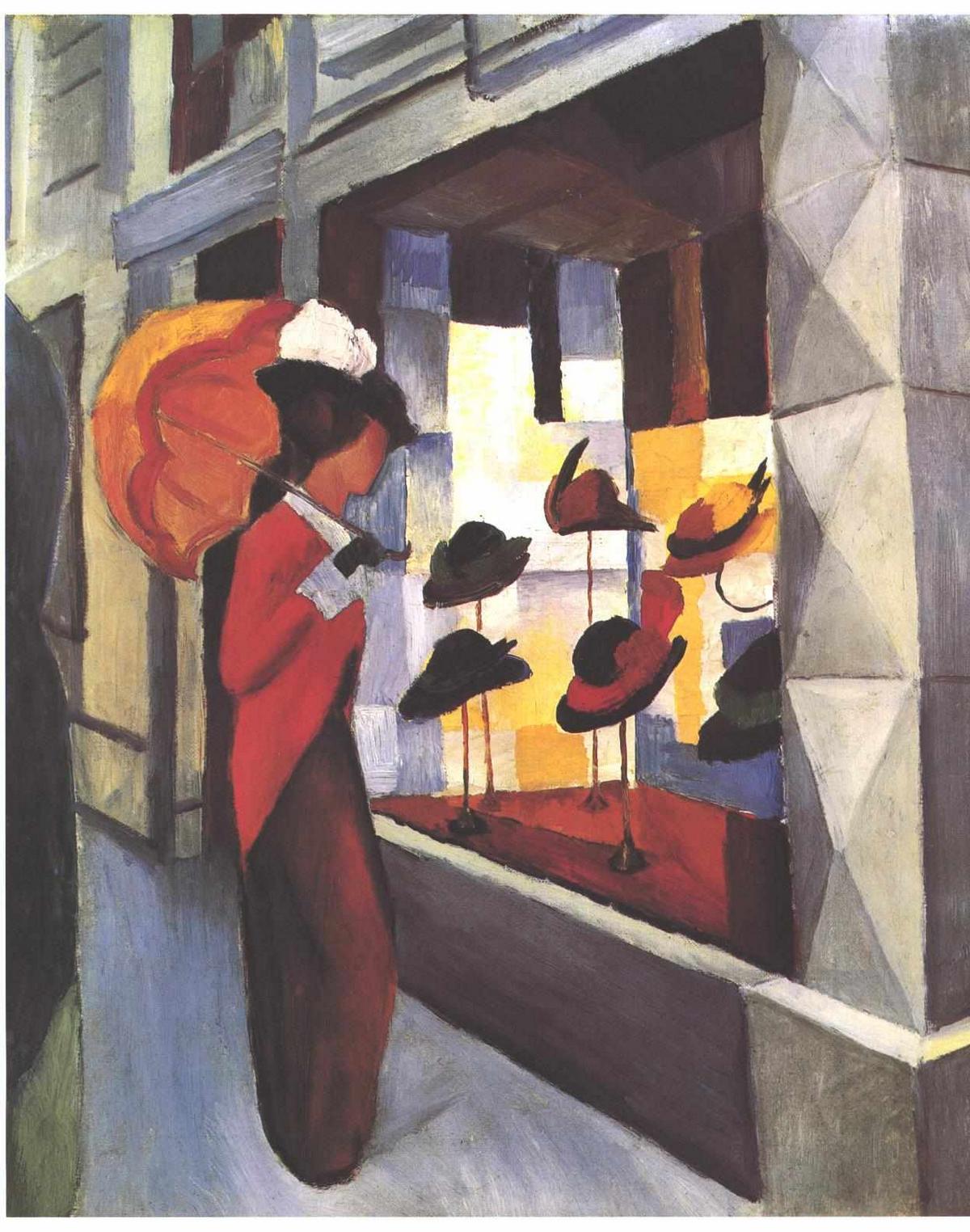 The Hat Shop - August Macke