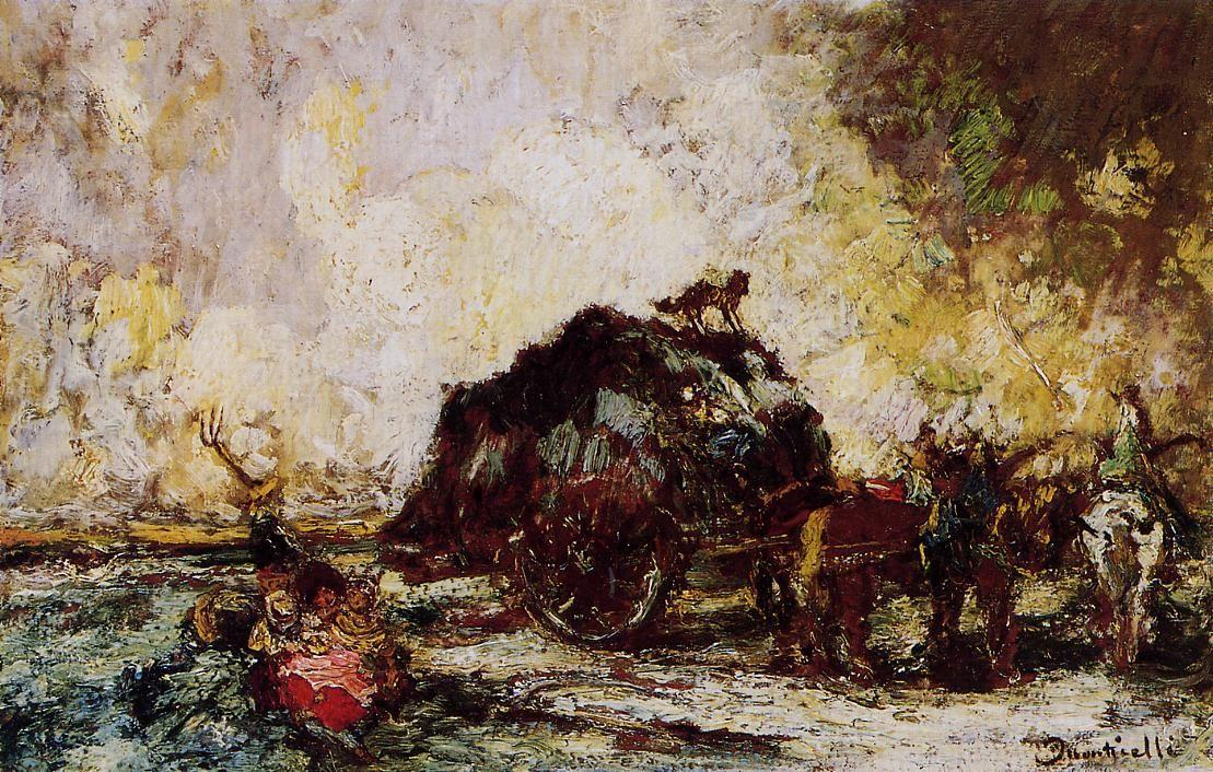 The Hay Card - Adolphe Joseph Thomas Monticelli