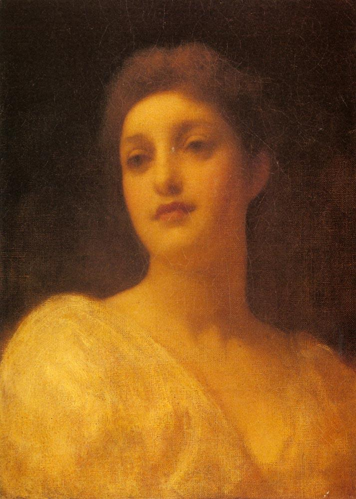 The Head Of A Girl - Frederic Leighton