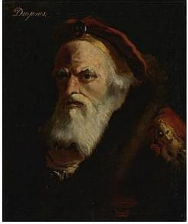 The head of an old man, inscribed Diogenes - Giovanni Domenico Tiepolo