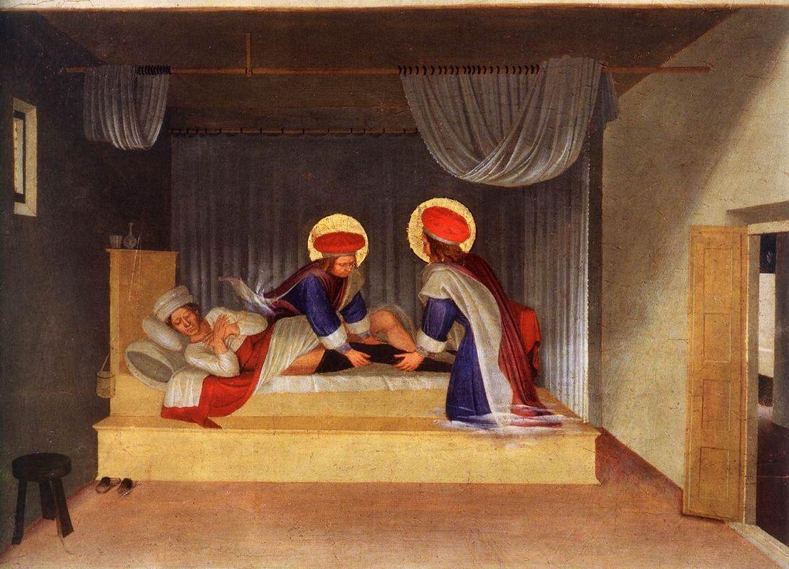 The Healing of Justinian by Saint Cosmas and Saint Damian - Fra Angelico