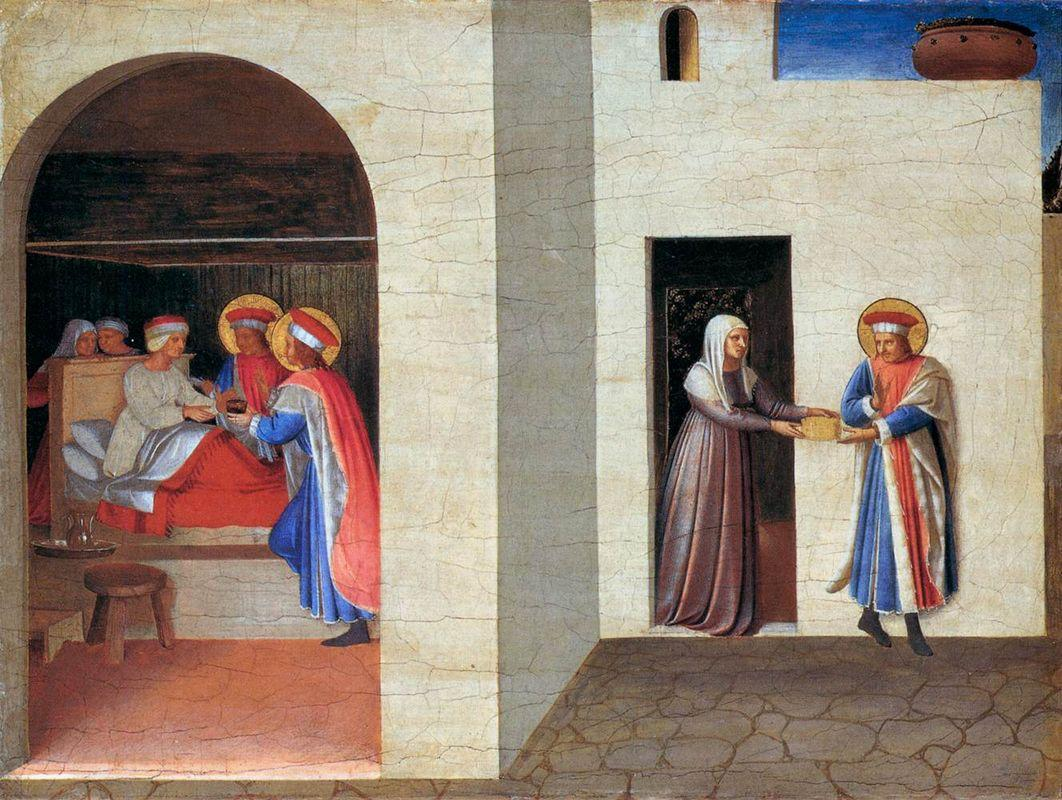 The Healing of Palladia by Saint Cosmas and Saint Damian - Fra Angelico