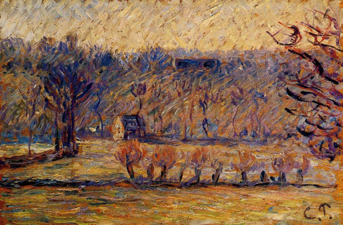 The Hill at Vaches, Bazincourt - Camille Pissarro
