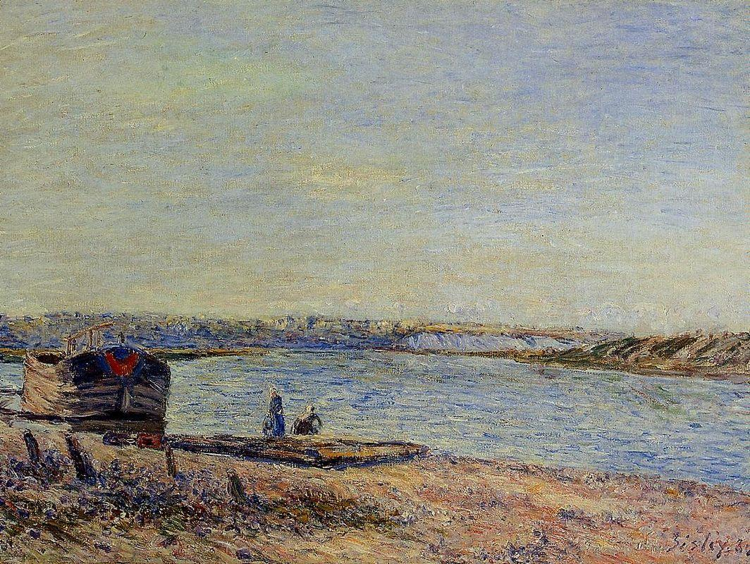 The Hills of Veneux, Seen from Saint Mammes - Alfred Sisley