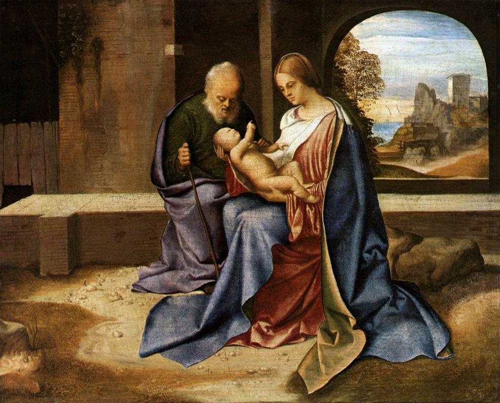 The Holy Family (Madonna Benson) - Giorgione