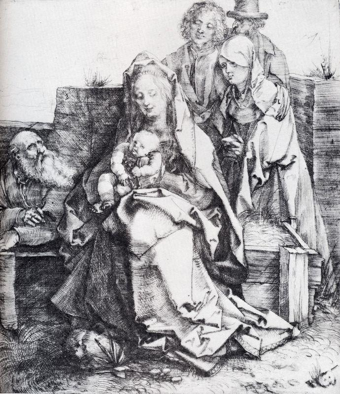 The Holy Family With St. John, The Magdalen And Nicodemus - Albrecht Durer