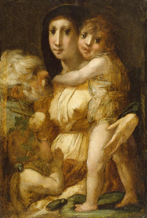 The Holy Family with the Infant Saint John the Baptist - Rosso Fiorentino