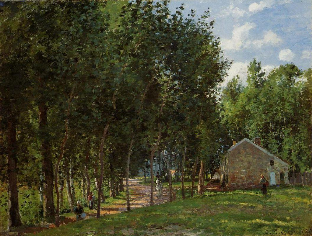 The House in the Forest - Camille Pissarro