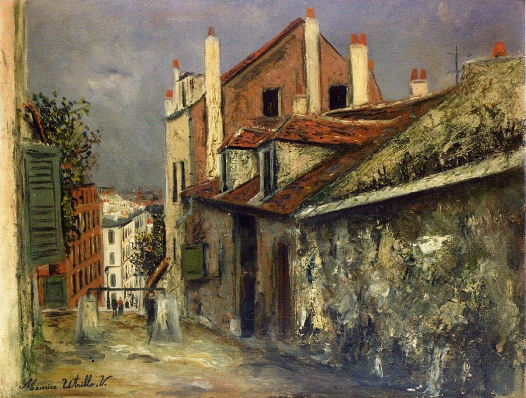 The House of Mimi Pinson in Montmartre - Maurice Utrillo