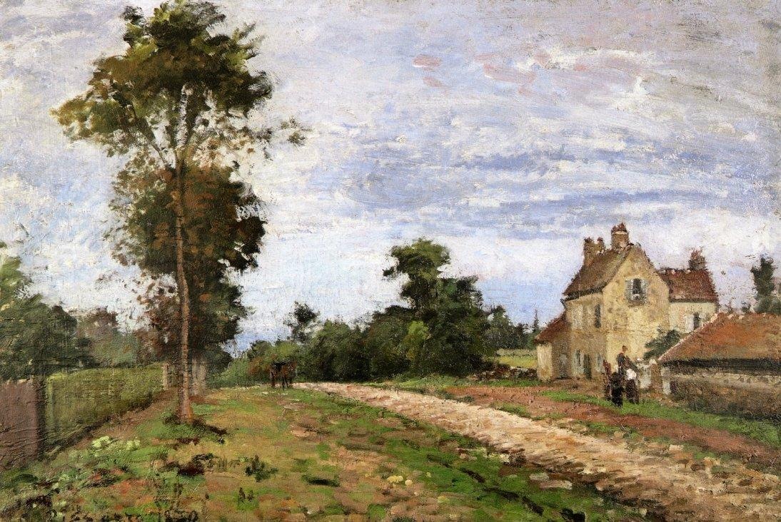 The House of Monsieur Musy, Louveciennes - Camille Pissarro