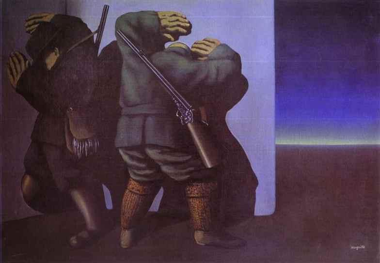 The hunters at the edge of night - Rene Magritte