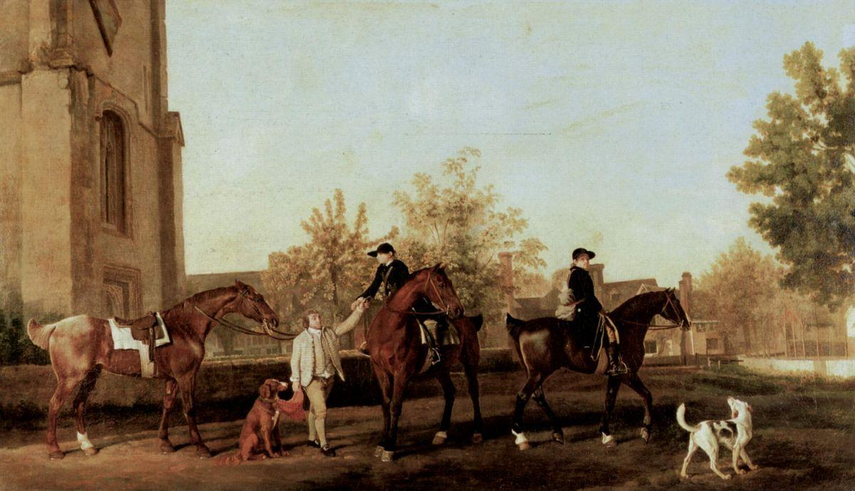 The Hunters leave Southill  - George Stubbs