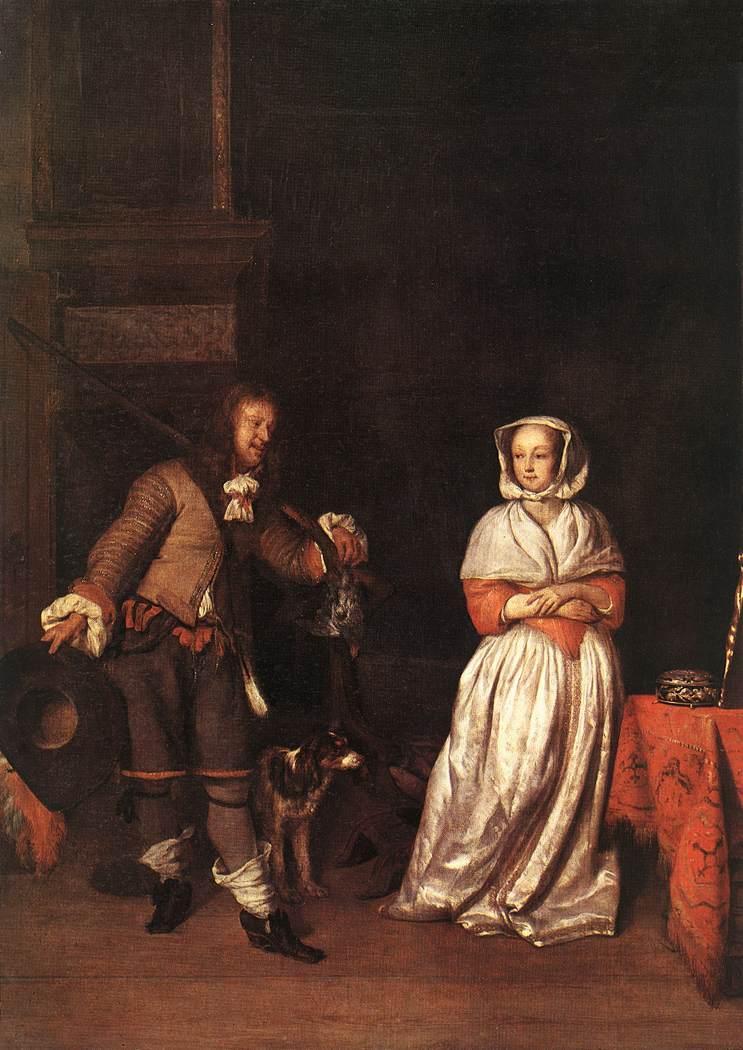 The Huntsman and the Lady - Gabriel Metsu