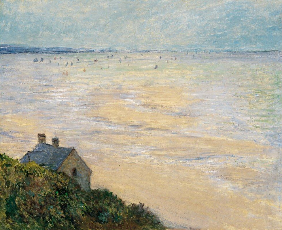 The Hut at Trouville, Low Tide - Claude Monet