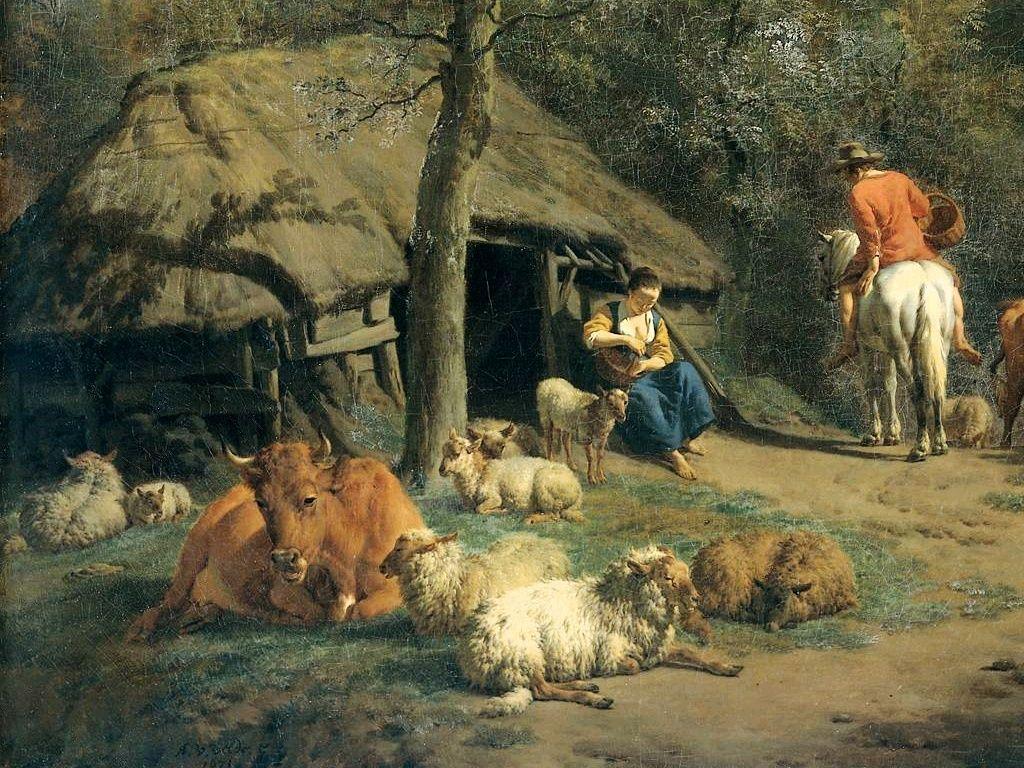 The Hut (detail) - Adriaen van de Velde