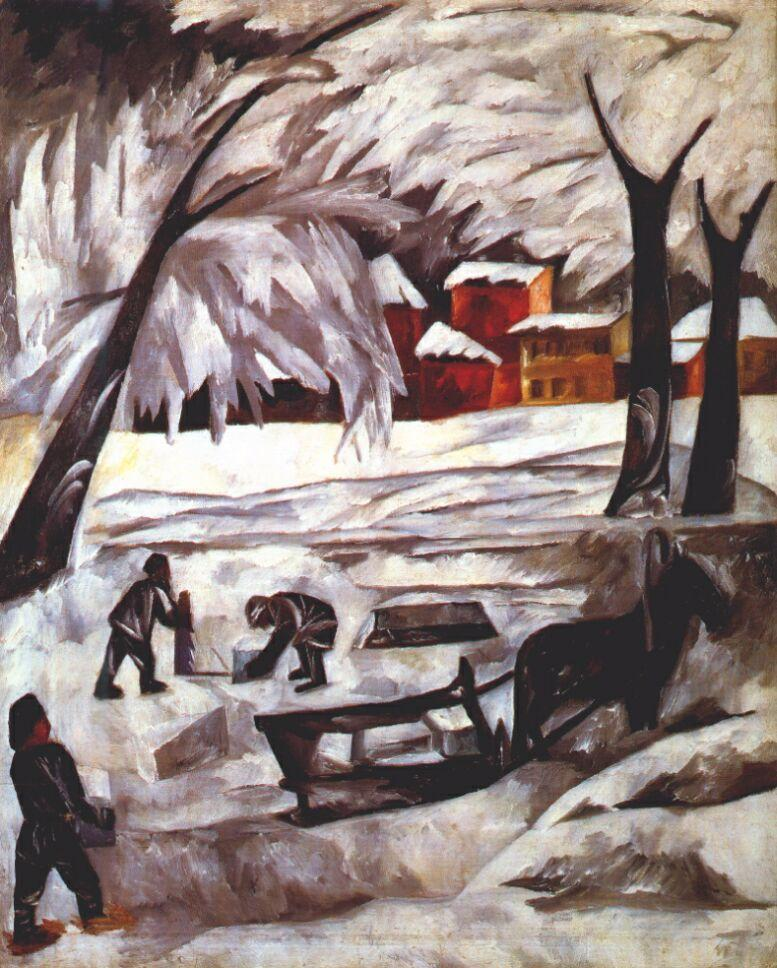 The ice cutters - Natalia Goncharova