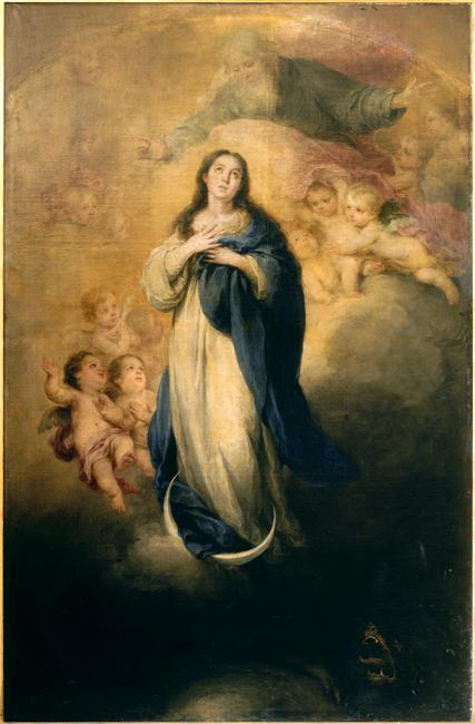 The Immaculate Conception with the Eternal Father - Bartolome Esteban Murillo