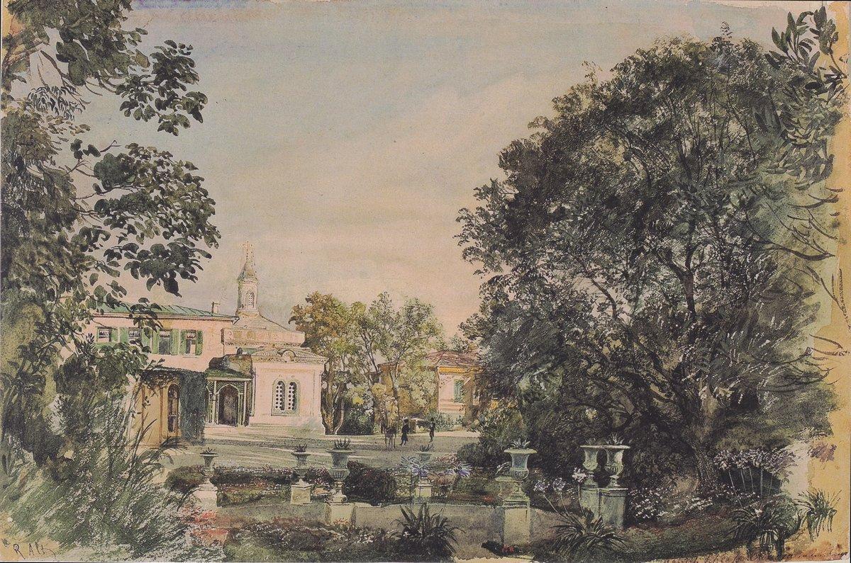 The Imperial Palace Livadia in the Crimea - Rudolf von Alt