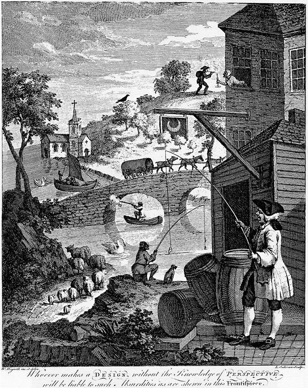 Satire on False Perspective - William Hogarth