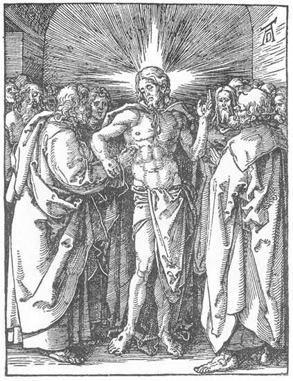 The Incredulity of St Thomas - Albrecht Durer