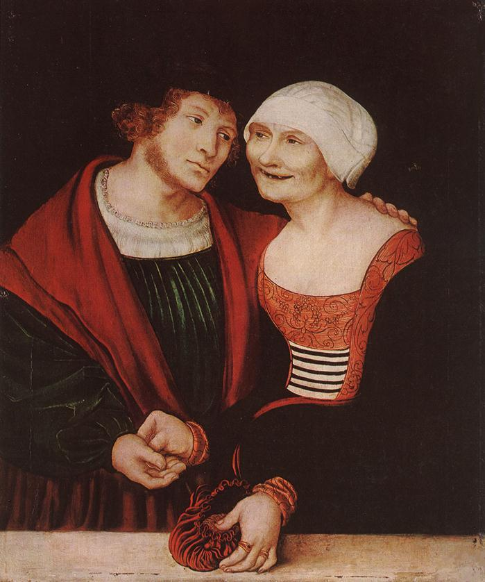 The Infatuated Old Woman - Lucas Cranach the Elder
