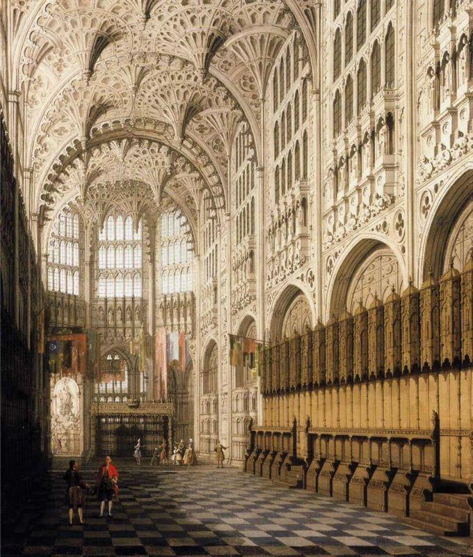 The Interior of Henry VII Chapel in Westminster Abbey - Canaletto