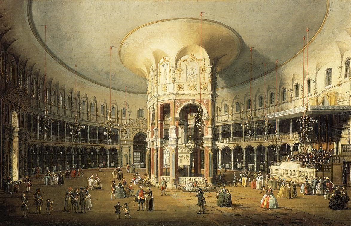 The Interior of the Rotunda, Ranelagh Gardens - Canaletto