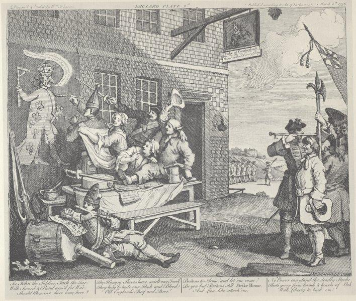 The Invasion, England - William Hogarth