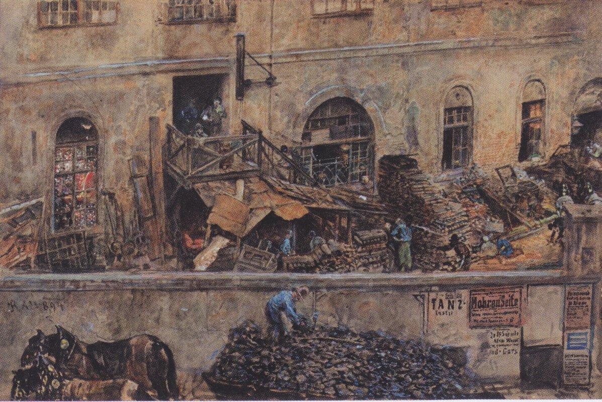 The iron foundry in Kitschelt Skodagasse in Vienna - Rudolf von Alt