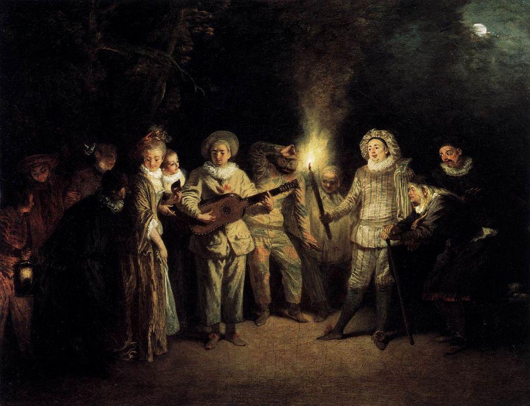 The Italian Comedy - Antoine Watteau