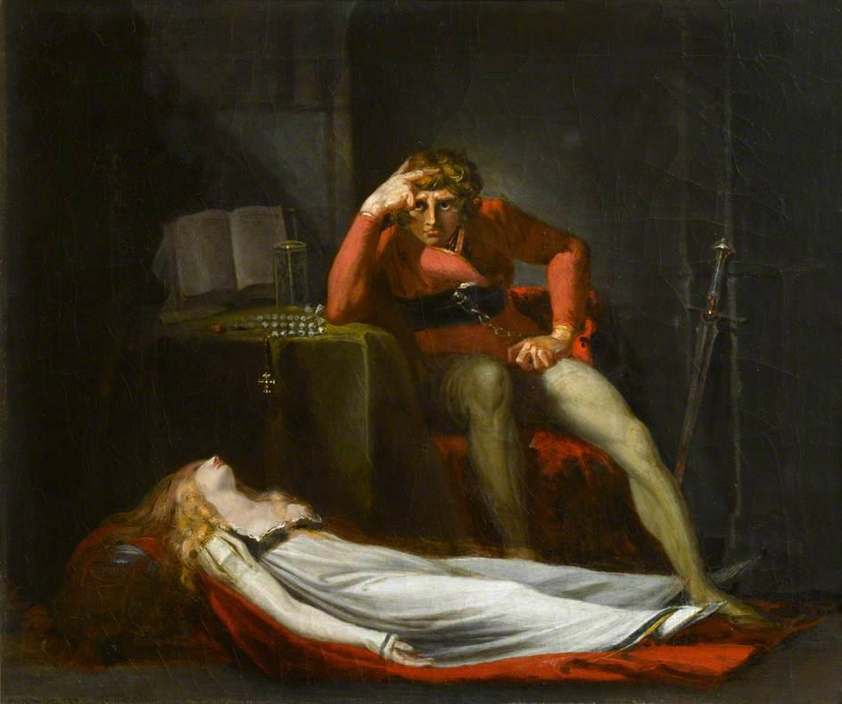 The Italian Count (Ezzelin Bracciaferro, 'Iron Arm', Musing over Meduna, Destroyed by him for Disloyalty, during His Absence in the Holy Land)  1780 - Henry Fuseli
