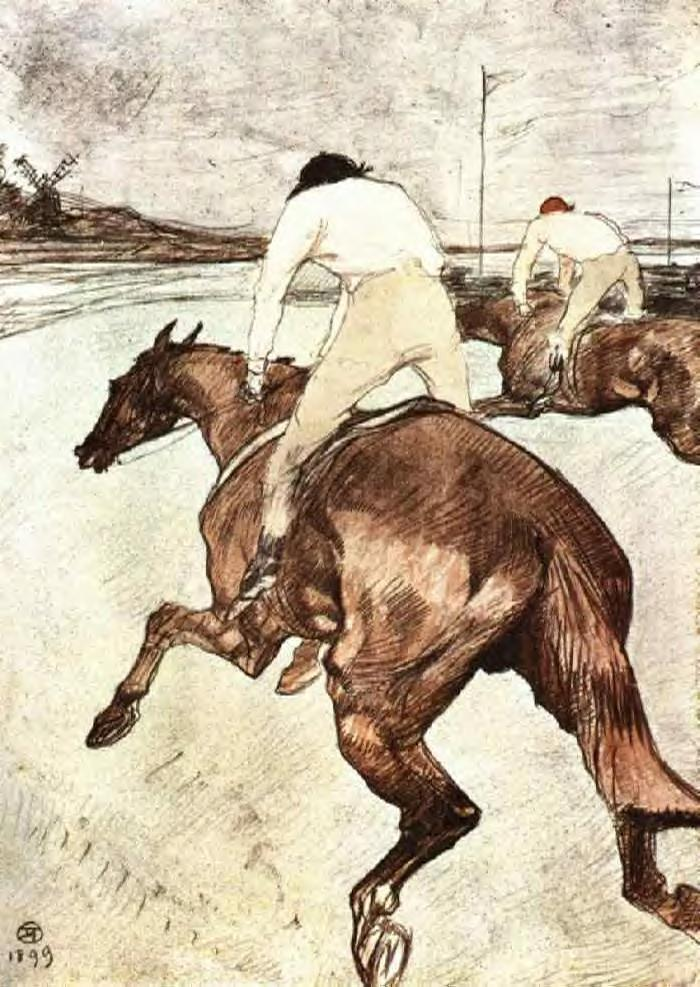 The Jockey - Henri de Toulouse-Lautrec