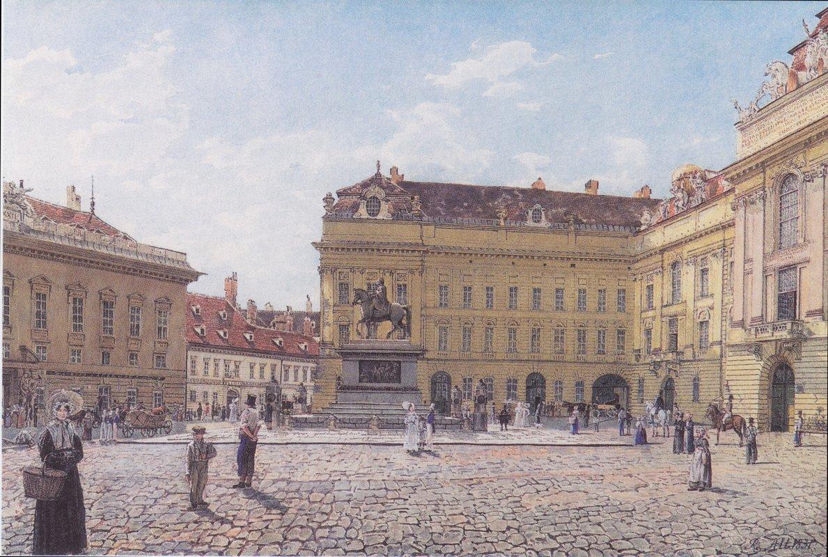 The Josef square in Vienna - Rudolf von Alt
