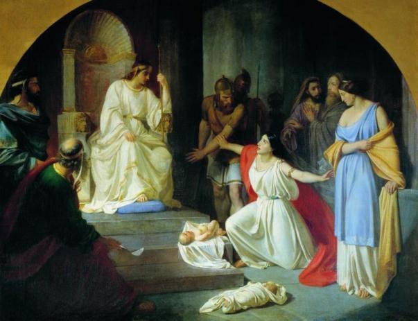 The Judgment of King Solomon - Nikolai Ge