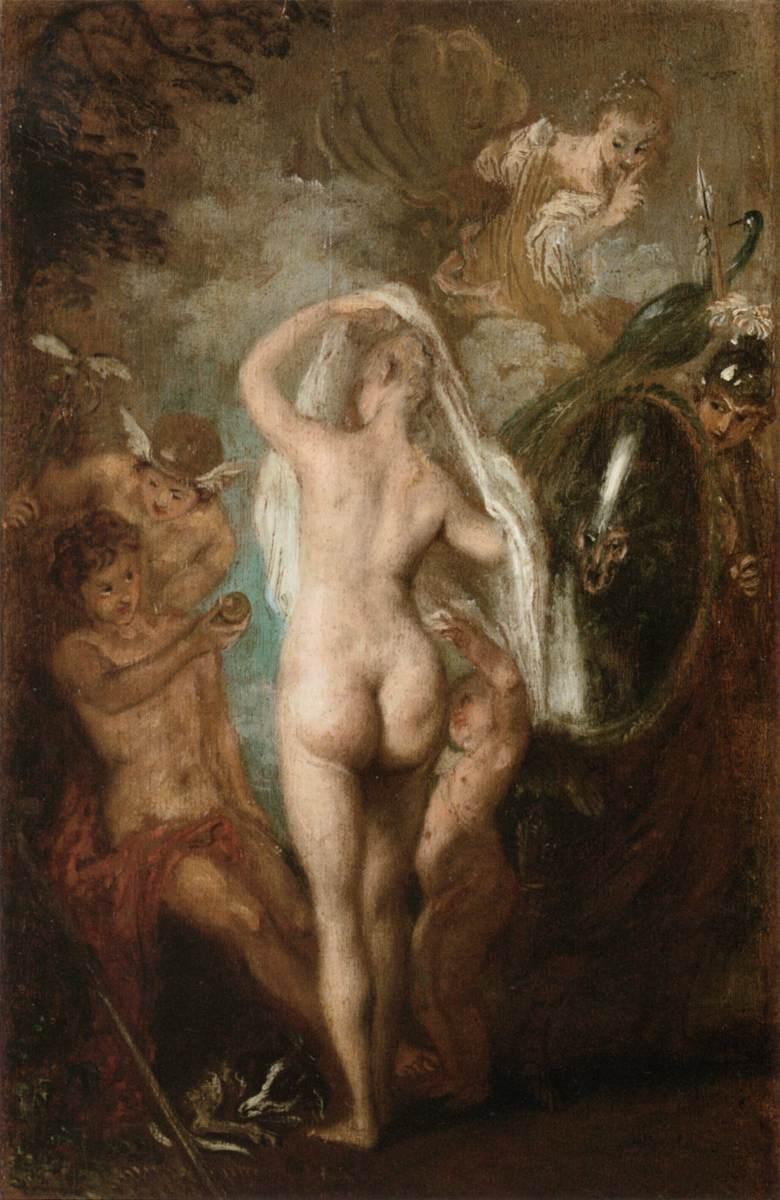 The Judgment of Paris - Antoine Watteau