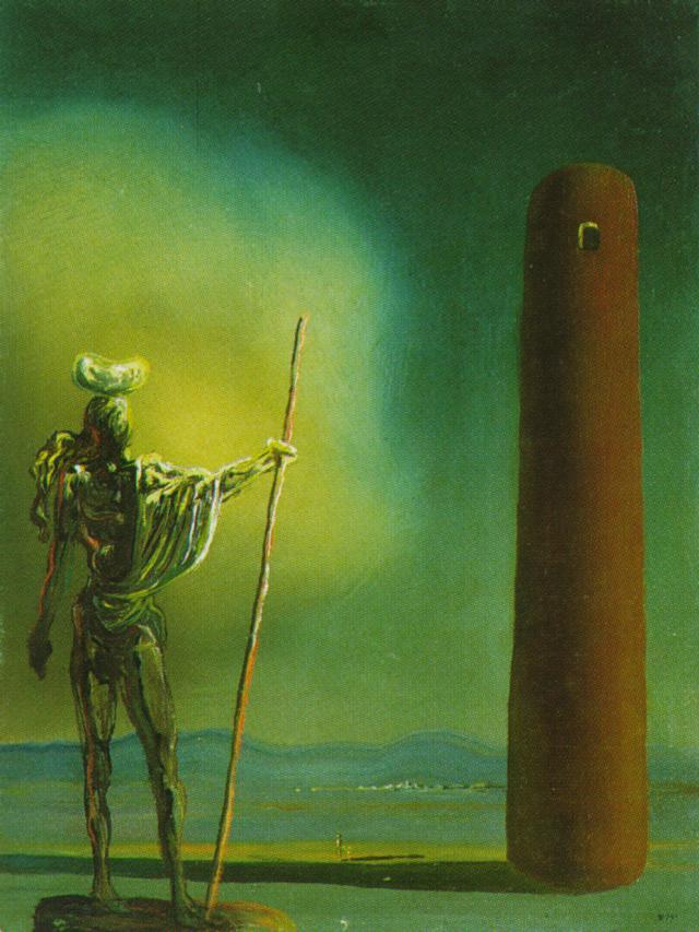 The Knight at the Tower - Salvador Dali