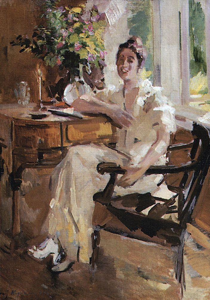 The lady on the chair  - Konstantin Korovin