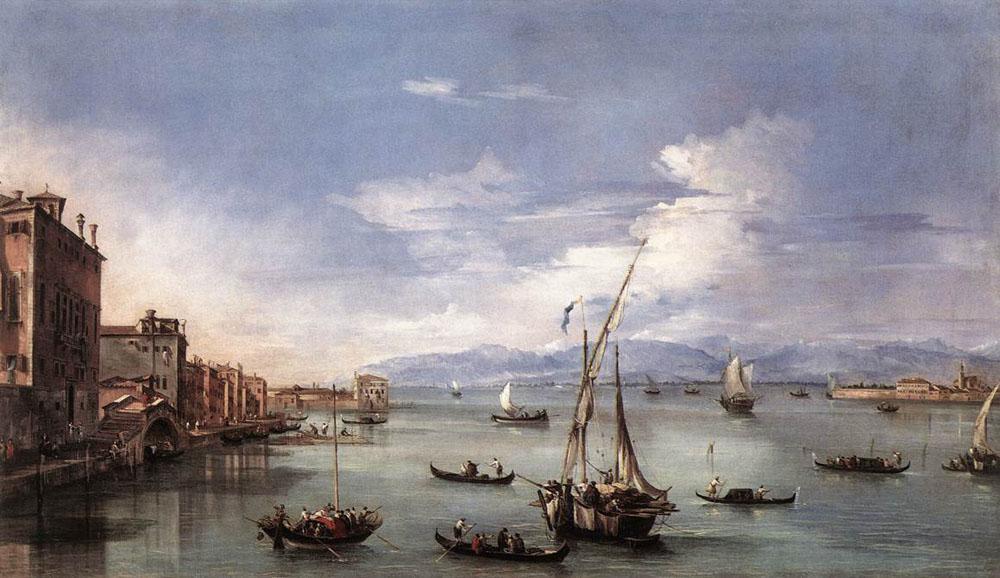 The Lagoon from the Fondamenta Nuove - Francesco Guardi