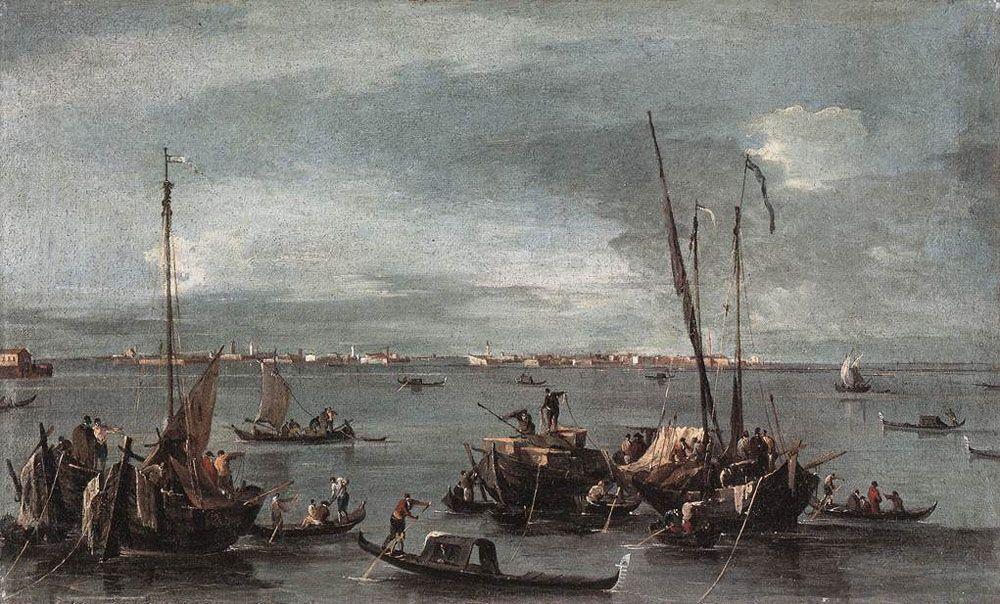 The Lagoon Looking toward Murano from the Fondamenta Nuove - Francesco Guardi