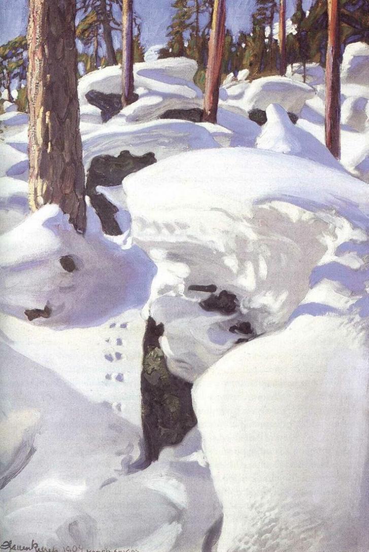 The Lair of the Lynx - Akseli Gallen-Kallela