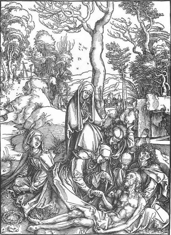 The Lamentation for Christ - Albrecht Durer