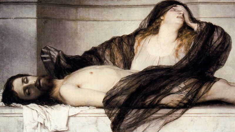 The Lamentations of Mary Magdalene on the body of Christ - Arnold Bocklin