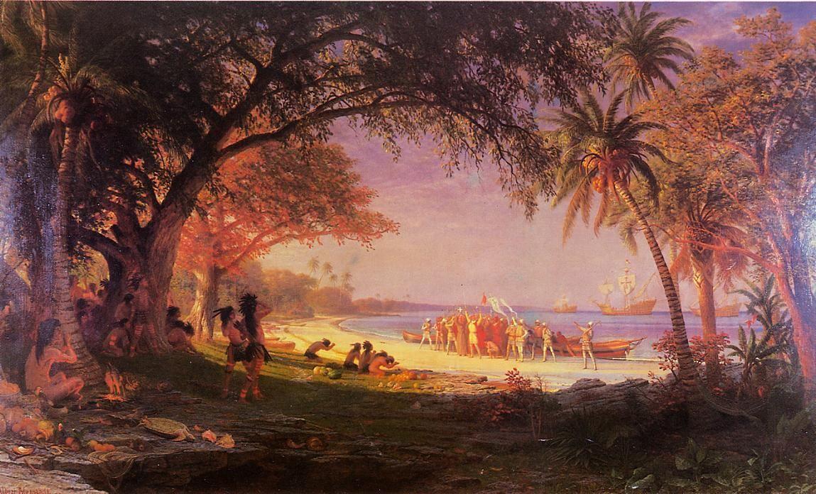 The Landing of Columbus - Albert Bierstadt